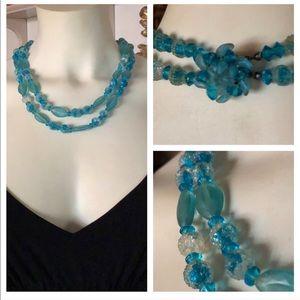 Vintage Aqua Necklace
